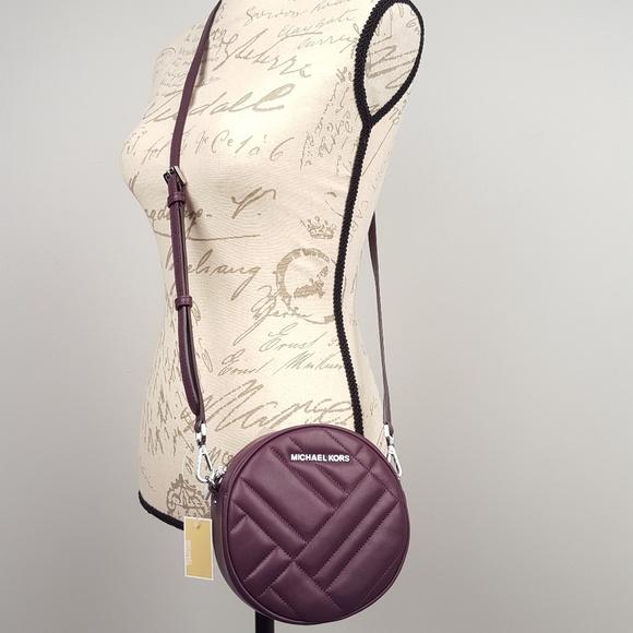 fbf60c3291f1 NWT Michael Kors Vivianne damson crossbody bag MK